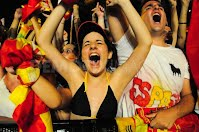 world cup - south africa - world cup 2010 - spain - cup - winning team - girl cheering